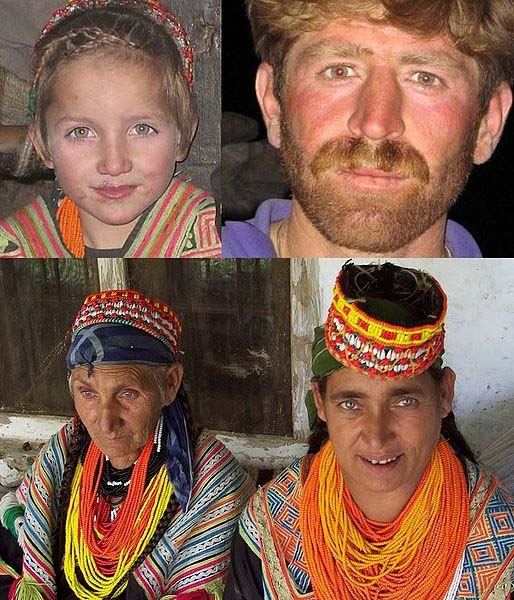 Individual people of the Kalash culture.
