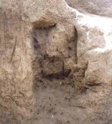 Infant bones were found in this niche.
