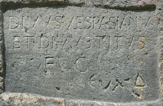 Inscription in the Titus Tunnel