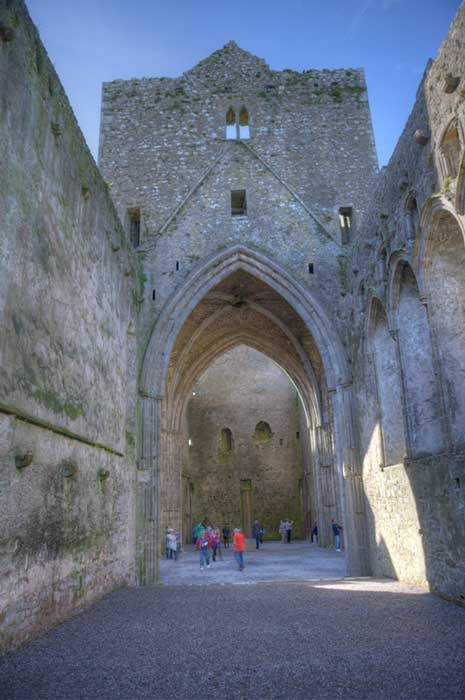 Inside the old cathedral on the Rock of Cashel. Credit: Ioannis Syrigos