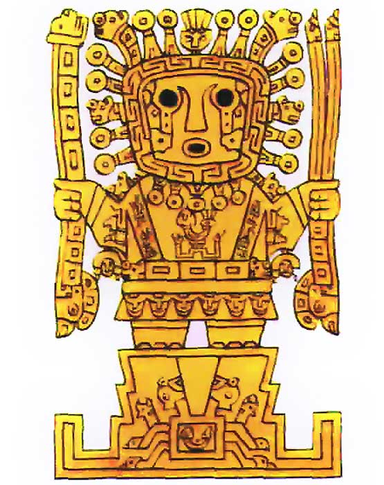Inti is said to be the son of Viracocha, pictured.