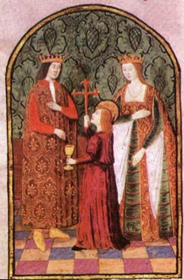 Isabella I. of Castile, Queen of Castile and León, with her husband Ferdinand II of Aragon.