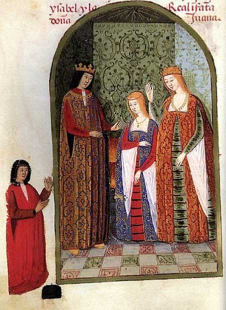 Isabella and Ferdinand with their daughter, Joanna, c. 1482.