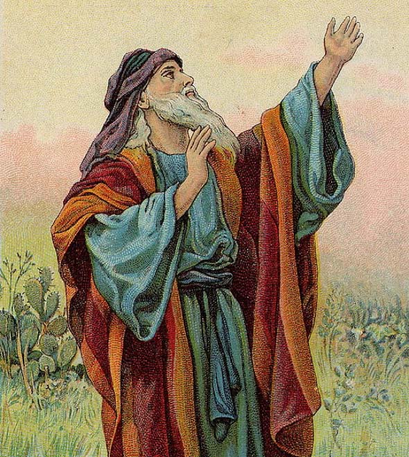 Isaiah; illustration from a Bible card published by the Providence Lithograph Company. (Public Domain)