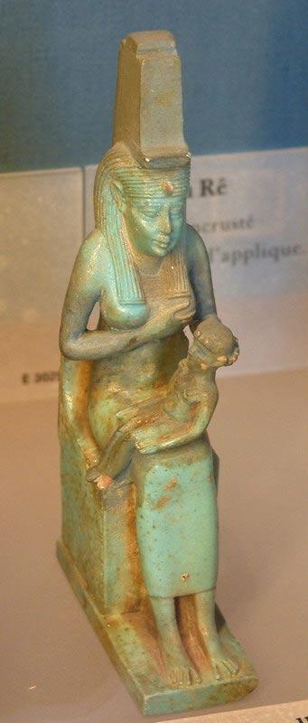 Isis nursing Horus (Louvre).