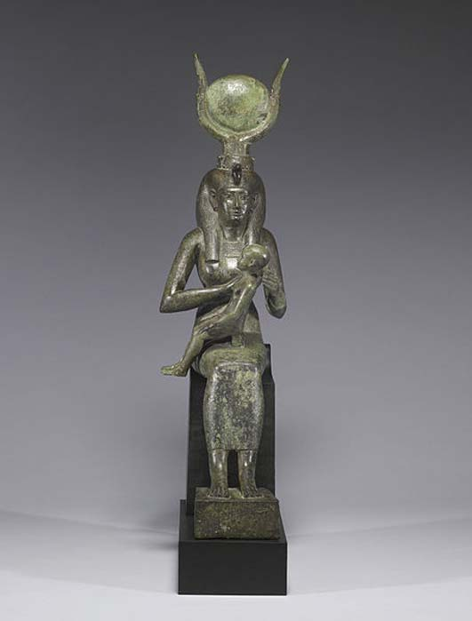 Isis with Horus the Child.