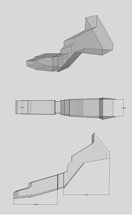 Isometric, plan and elevation images of WV25 taken from a 3d model.