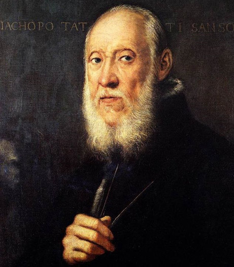 Portrait of Jacopo Sansovino, architect of the famous Biblioteca Nazionale Marciana in Venice.  Artist: Tintoretto 1560-1570. Currently on display at the Uffizi Gallery.