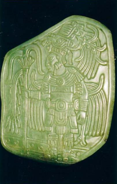 Jadeite pectoral adornment from the Maya Classic period. (CC BY-SA 3.0)