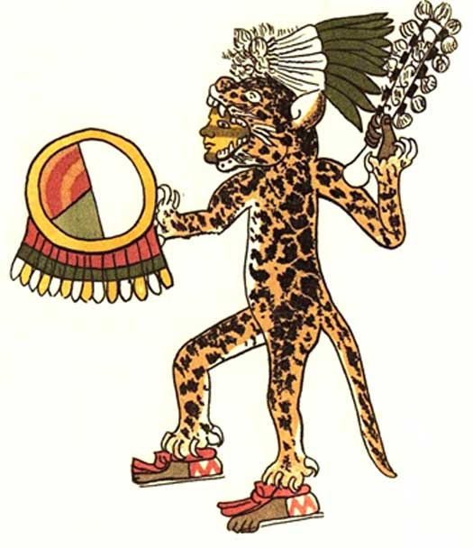 Jaguar warrior from the Codex Magliabechiano (public domain)