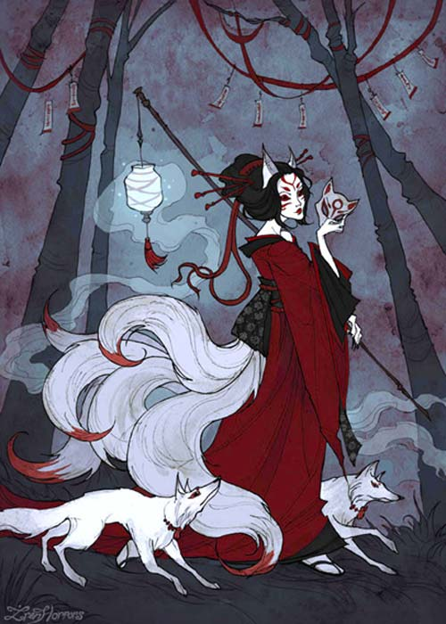 Japanese folktales speak of the Kitsune who trick others by portraying themselves as faithful guardians, friends, lovers, and wives. (IrenHorrors / CC BY-SA 3.0)