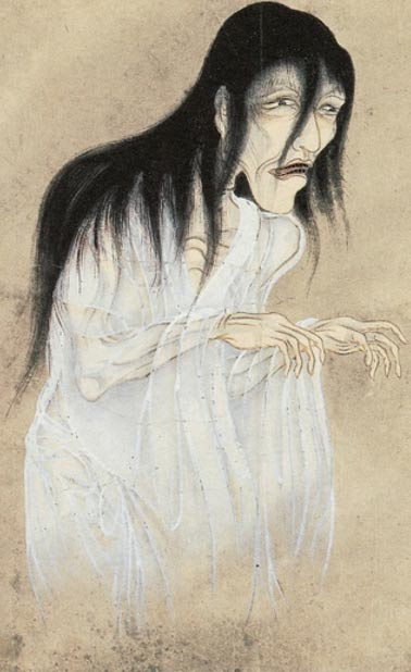 Yūrei (Japanese ghost). Painting circa 1737