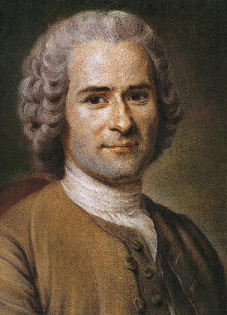 Jean-Jacques Rousseau by Maurice Quentin de La Tour (18th century) (Public Domain)