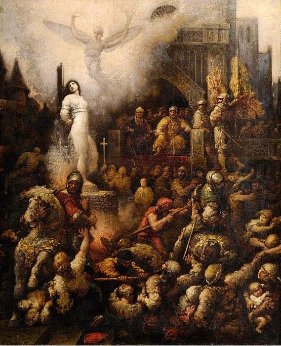 Jeanne d'Arc. (1901) By François Chifflart.