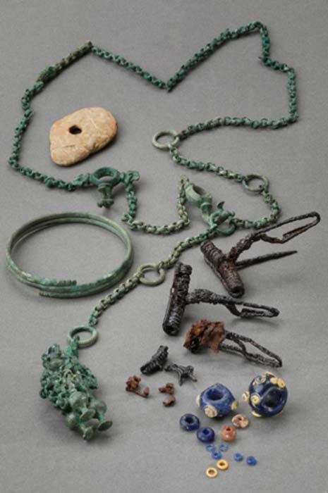 Jewelry buried with the Celtic woman. (Zurich archaeology department)