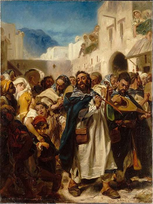 Jewish Festival in Tetuan, Alfred Dehodencq, 1865, Paris Museum of Jewish Art and History. (Public Domain)