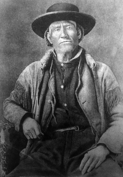 Jim Bridger (1804-1881) was a most famous mountain man who lived in the wilderness, trapping as a way of living. Photograph, Denver Public Library. (Public Domain)