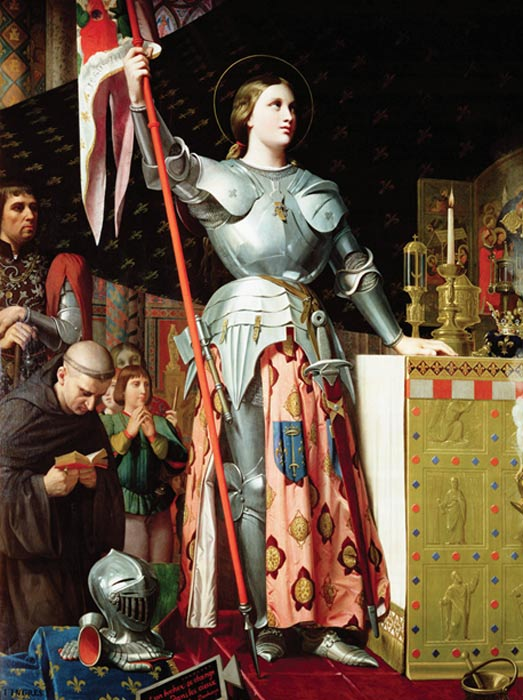 Joan at the coronation of Charles VII, 19th century painting by Dominique Ingres