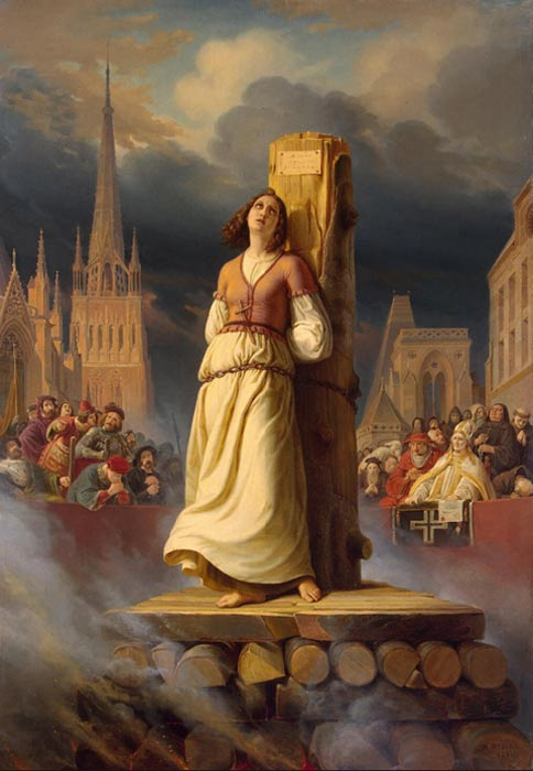 Joan of Arc's Death at the Stake, by Hermann Stilke (1843)
