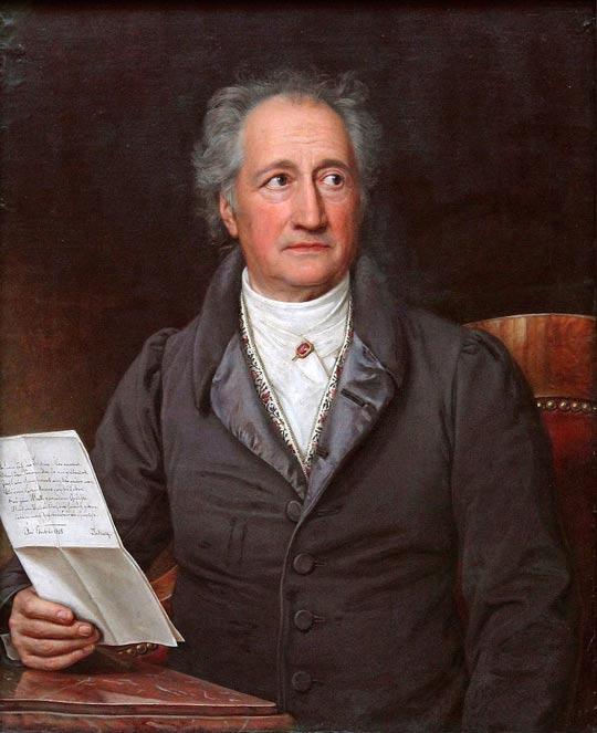 Johann Wolfgang von Goethe (1749-1832).