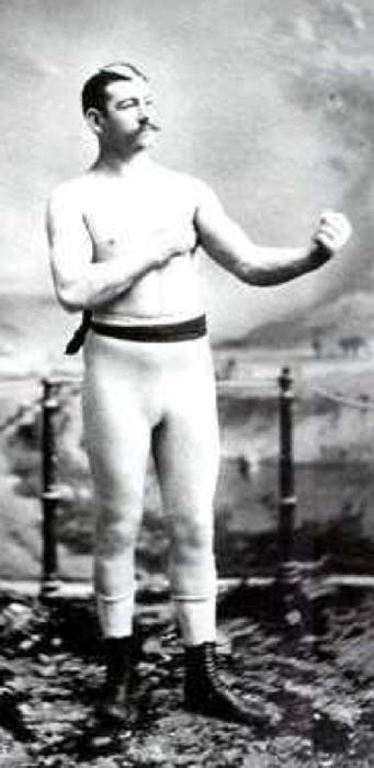 John Lawrence Sullivan (1858 - 1918) AKA; Boston Strong Boy, was the first heavyweight champion of gloved boxing from February 7, 1882 to 1892, and is generally recognized as the last heavyweight champion of bare-knuckle boxing under the London Prize Ring rules. (Public Domain)