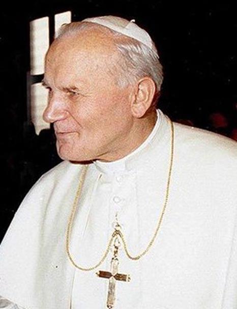 A 1980 photo of John Paul II in Rome, Italy.