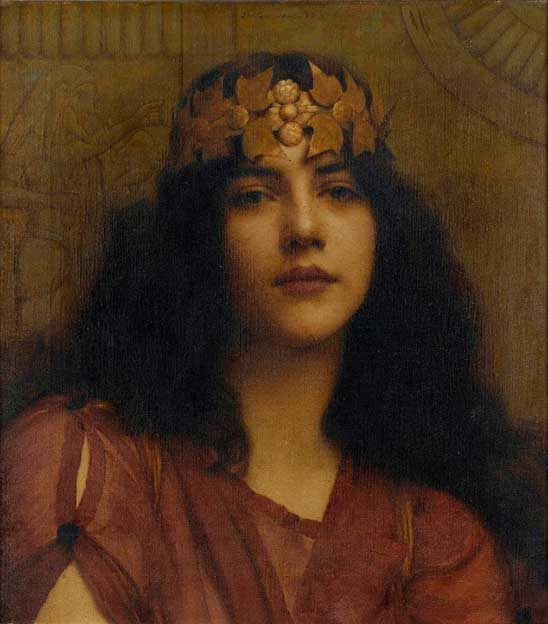 "John William Godward ""A Persian princess"" 1898. (Plum leaves/CC BY 2.0)"