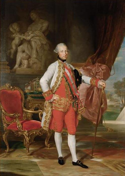 Austrian Emperor Joseph II by Anton von Maron.
