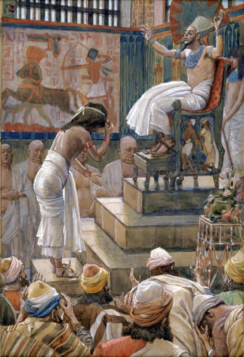 Joseph and His Brethren Welcomed by Pharaoh. By James Tissot, circa 1903. (Public Domain)