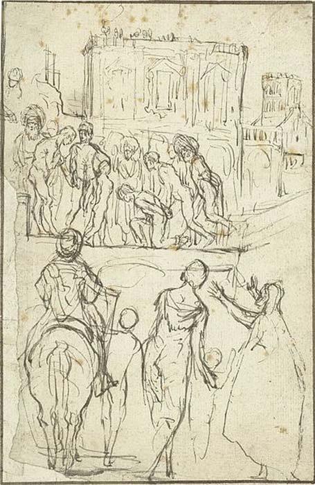 Джозефус возглавляет Никанор перед Императором Веспасианом