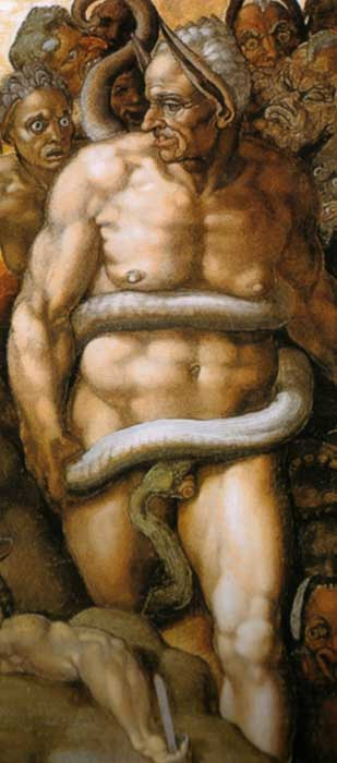 Judge Minos in 'The Last Judgement' by Michelangelo.