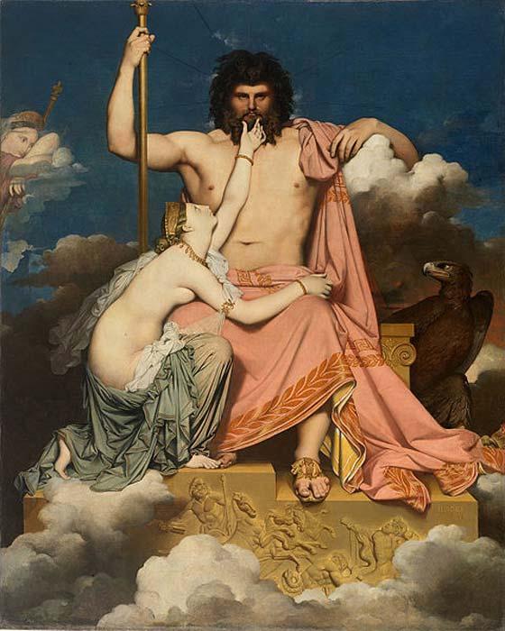 Jupiter, Ancient Roman sky deity, and Thetis. (Public Domain)