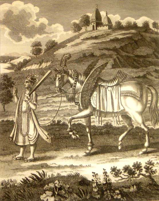Kalki and his horse.