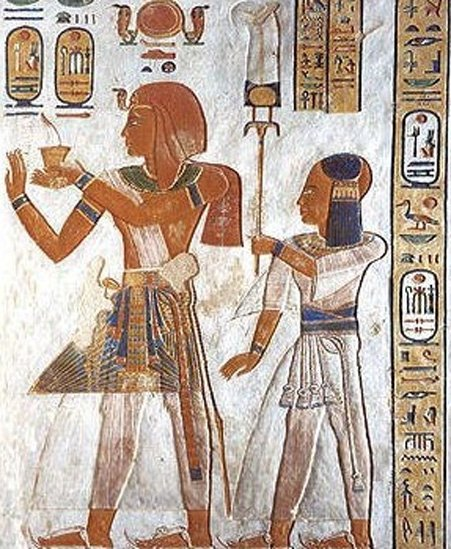 Rammesse III and Khaemwaset.