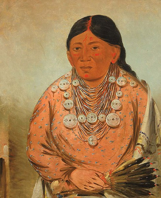 Kickapoo Nation woman A'h-tee-wát-o-mee. (Public Domain)