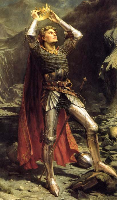 King Arthur, as painted in 1903 by Charles Ernest Butler.