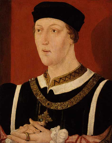 King Henry VI as a young man.