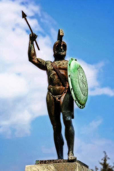 King Leonidas I Monument at Thermopyles