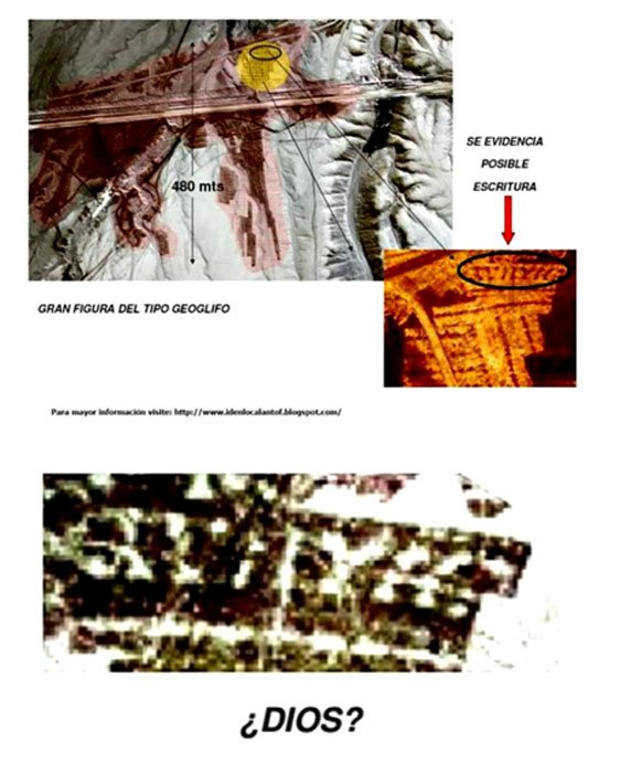 """Details of the possible text written on the crown of """"King Mallku"""""""