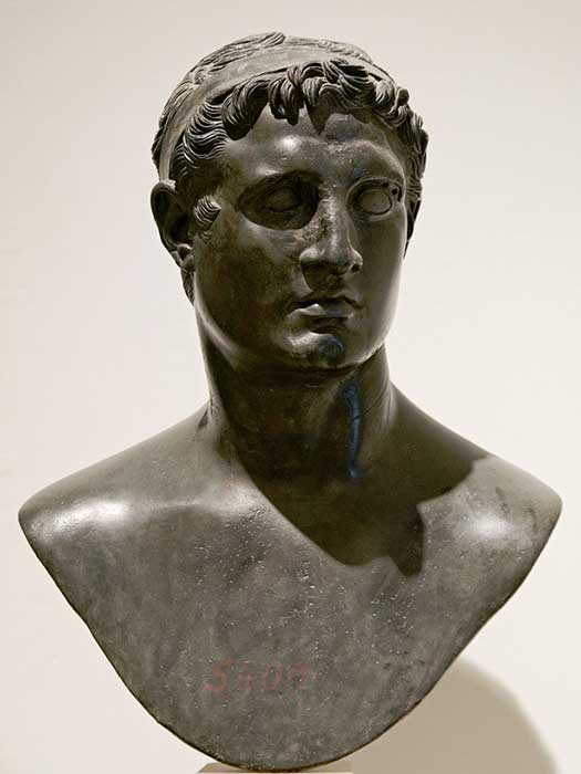 A bust depicting King Ptolemy II Philadelphus 309–246 BC.