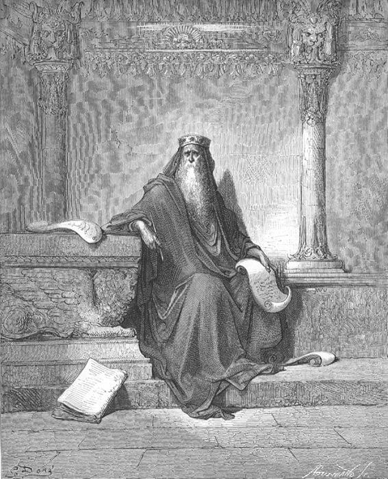 König Salomo im Alter (1. Könige 4: 29-34)