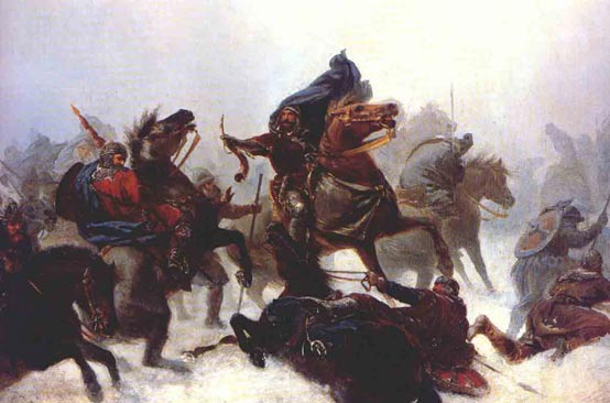 King Sverre in battle