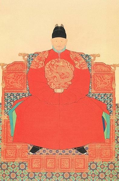 Portrait of King Taejo of Joseon.