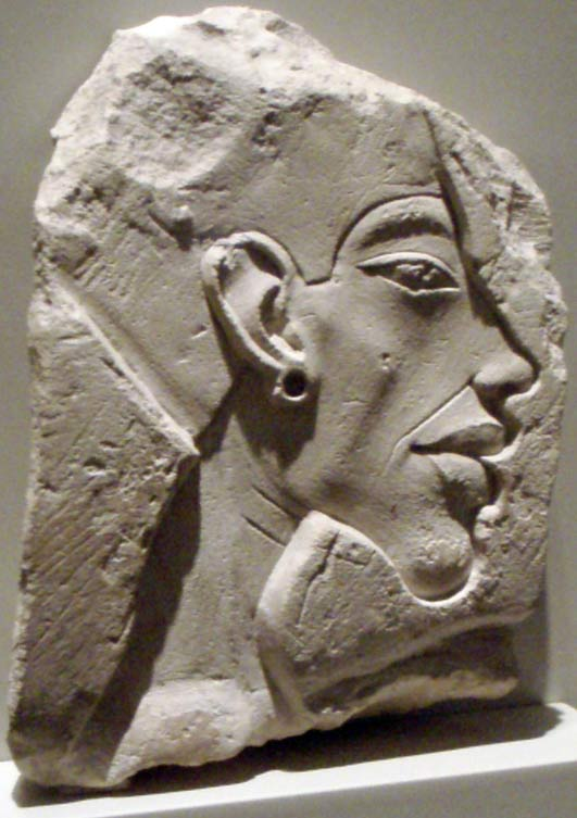 Kiya was known to be a wife of Akhenaten, pictured in this relief carving