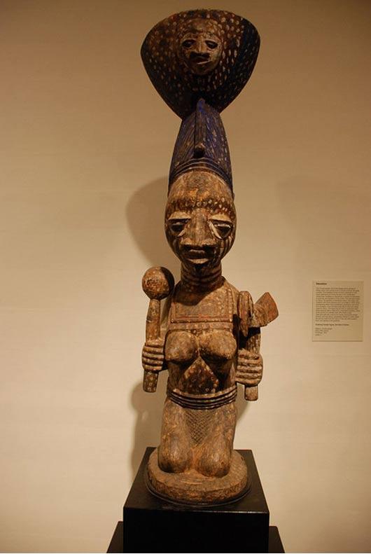Kneeling Female Figure, Devotee of Oshun.