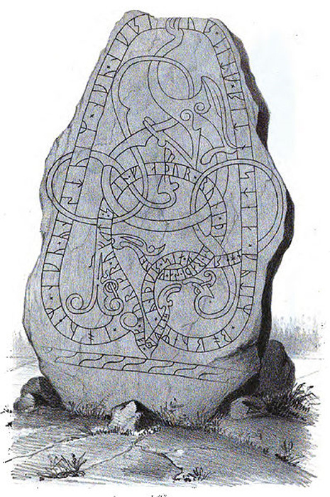 Knotwork and runes are seen on 'Runestone U.'