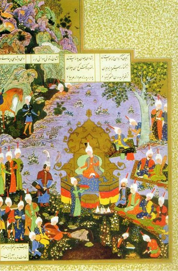 Kobad lived in the Alborz Mountains and it was Rostam who brought him to the Estaxr capital.