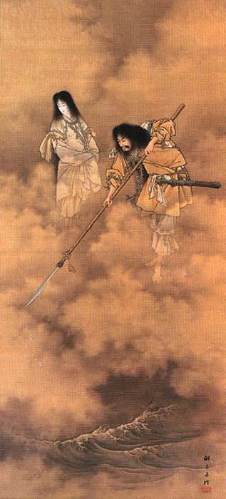 Kobayashi Eitaku, Izanagi and Izanami, c. 1885.