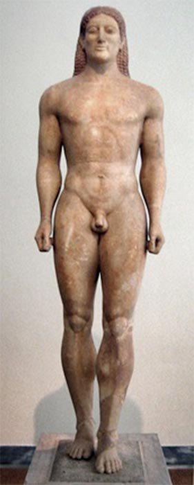 Kouros representing an idealized youth. (circa 530 BC) (Public Domain)