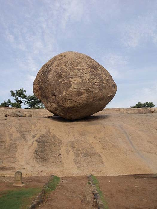 Krishna's Butter Ball, Mamallapuram, India.